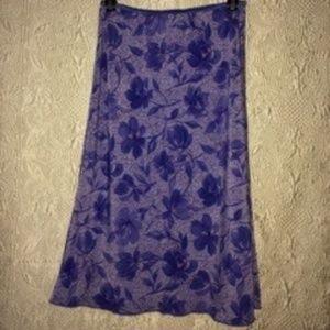 Purple & violet dress skirt.